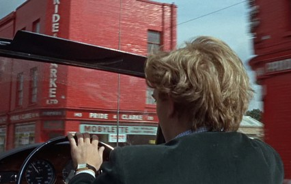 David Hemmings driving on the Stockwell Road in Blow-Up.