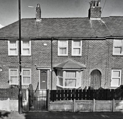 Kempton Bunton's council house at 12 Yewcroft Avenue in Newcastle.