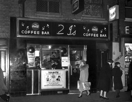 The 2 i's Coffee Bar in Old Compton Street