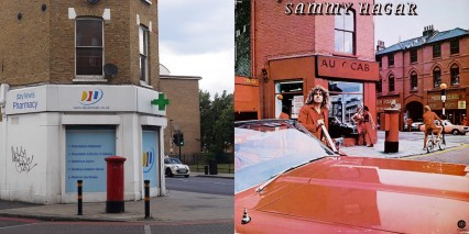 Then and Now: The Stockwell Road in 2015 and 1977 the year that Sammy Hagar's 'Red Album' was released.