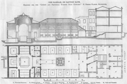 Plan Of The Hammam At 76 Jermyn Street