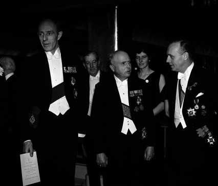 Lord Halifax, the Duke of Saxe Coburg Gotha, and Joachim von Ribbentrop at the Anglo-German dinner.