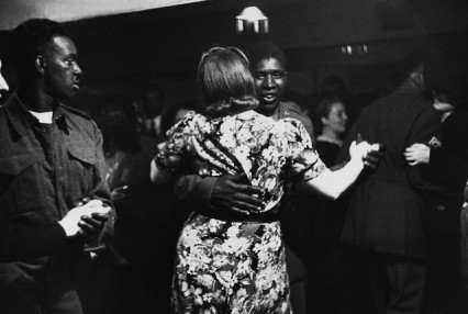 Black American GI dancing at the Bouillabaise club in Soho, 1943