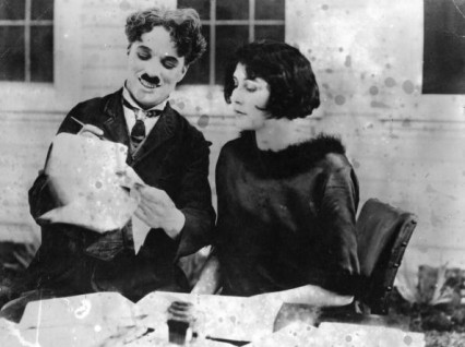Charlie Chaplin and Lita Grey not long after they were married in 1924.