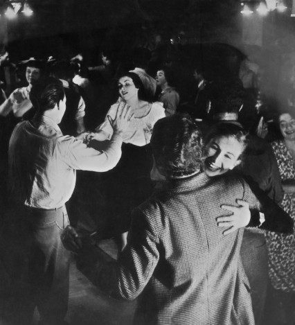 12th November 1949:  Jazz fans dance the night away to the wild sounds of Humphrey Lyttelton and his band, playing at a meeting of the London Jazz Club in the basement of No 100 Oxford Street. Original Publication: Picture Post - 4919 - A New Jazz Age - pub. 1949  (Photo by Charles Hewitt/Picture Post/Getty Images)