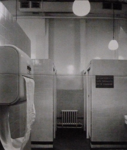 The Gents in the National Gallery as they were in 1961.