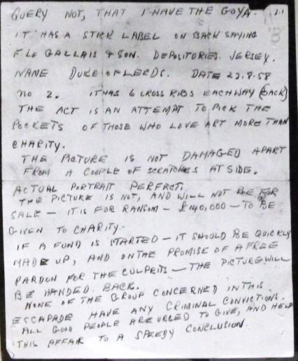 Kempton Bunton letter