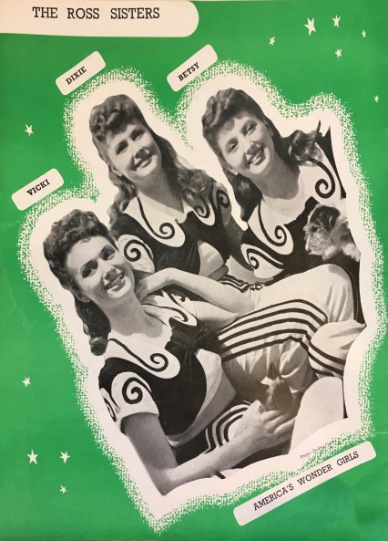 The Ross Sisters, from the Piccadilly Hayride programme