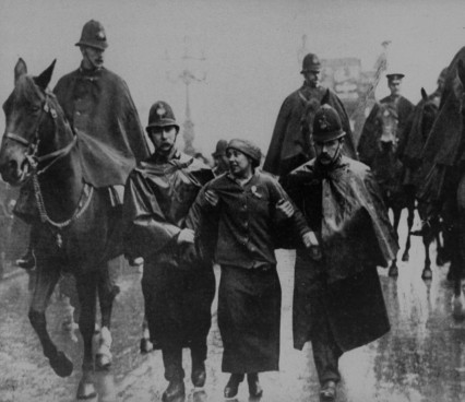 Sylvia Pankhurst being arrested. Yet again.