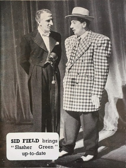 Sid Field performing as Slasher Green the spiv in Piccadilly Hayride.