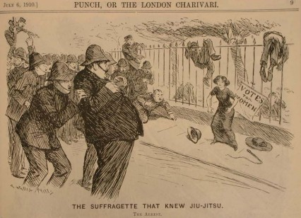 The Suffragette that knew Jujitsu. 1910.
