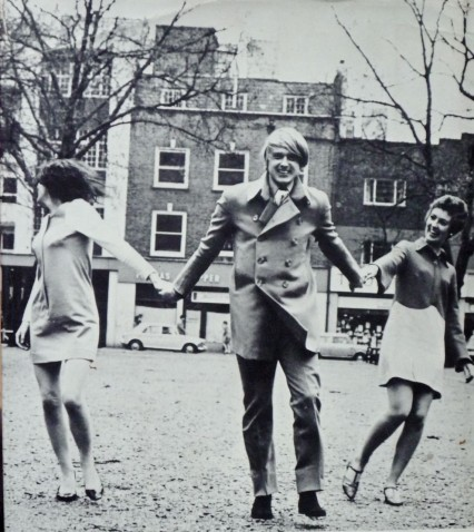 The author Adam Diment in 1967 with two lovely ladies.