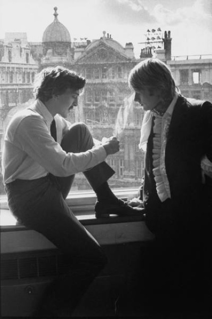 Adam with David Hemmings in 1967.