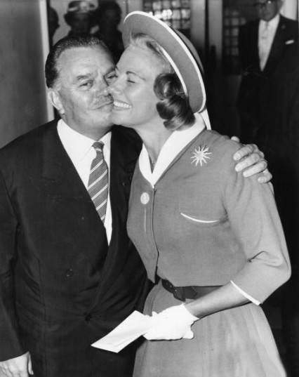 Billy Butlin marrying his late wife's sister in 1959. 