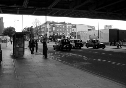 Blackfriars Road, June 2009. The Ring pub can be seen in the distance.