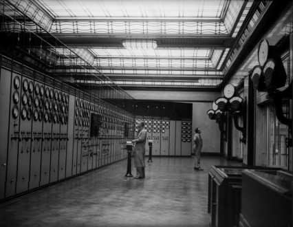 Battersea Power Station's control room July 1933