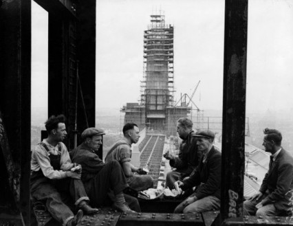 The building of Battersea 'B' in 1951