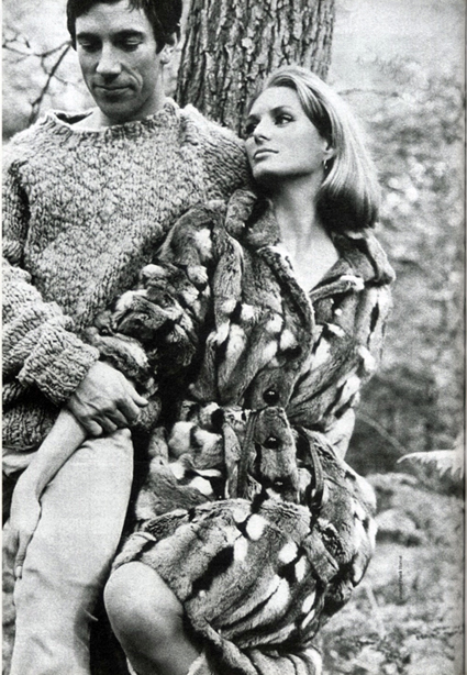 Donald Cammell and his beautiful wife - the model Deborah Dixon