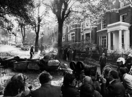 The world's press on the morning of the explosion at Campden Hill Square