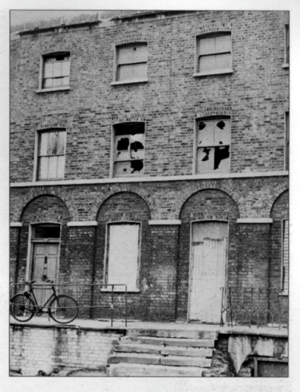 The house in Pownall Terrace in Lambeth, where Charlie Chaplin once lived. It was demolished in 1968.