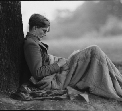 Colin Wilson on Hampstead Heath, 1956