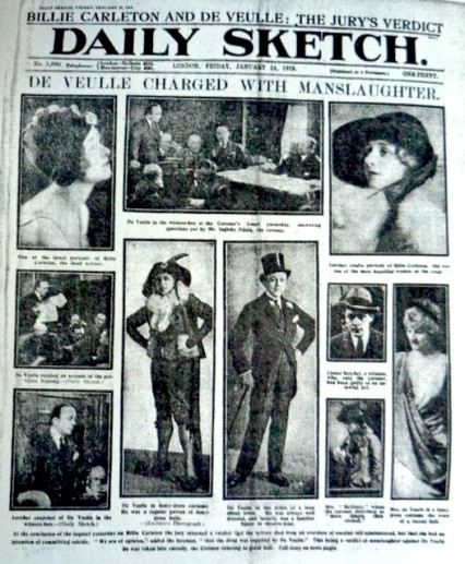 The Daily Sketch front page January 24th 1919