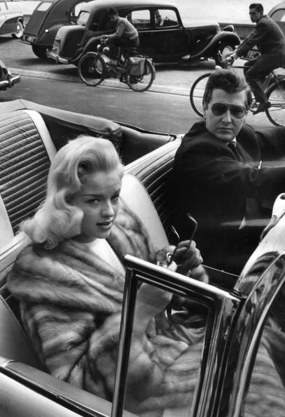 Dors and Hamilton in Cannes,1956
