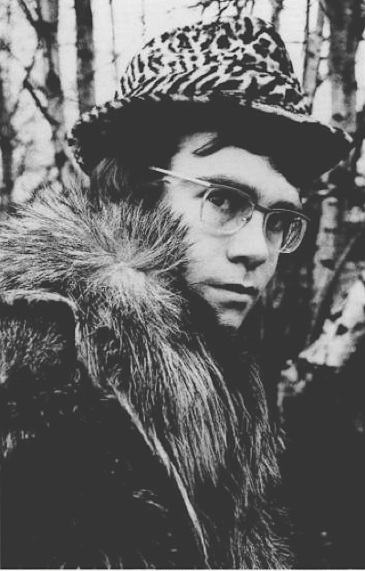 Elton's first photo-shoot in 1968