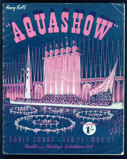 The programme for the Aquashow at Earls Court in 1948