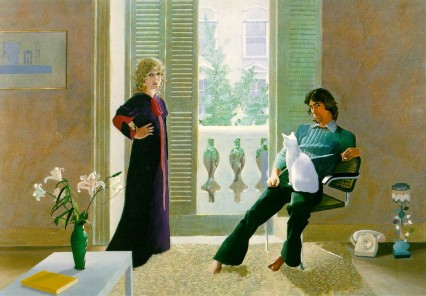 Hockney's Mr and Mrs Clark with Percy