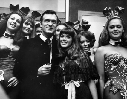 Hugh Hefner at London's Playboy Club in Park Lane