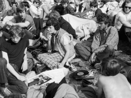 Hyde Park audience 20th September 1969