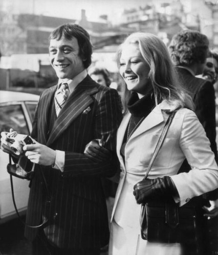 Robin Nedwell and Jenny Handley in 1973.