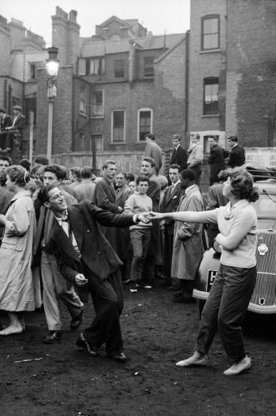 Dancing in a Soho carpark in 1956