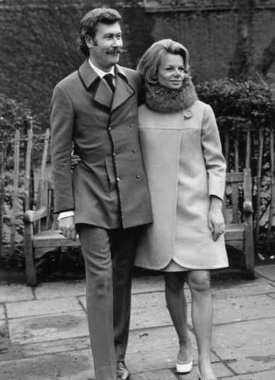 Osborne and Jill Bennett at their wedding in 1968