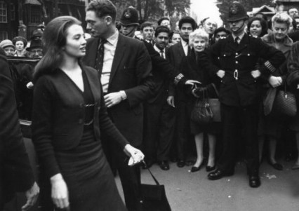 Christine Keeler arriving at court, October 1963