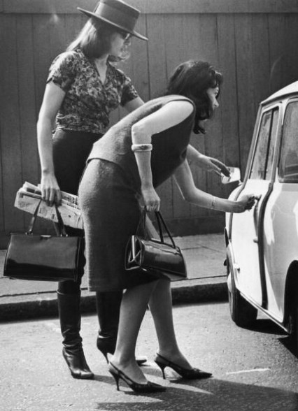 Christine Keeler with friend 25th April 1963