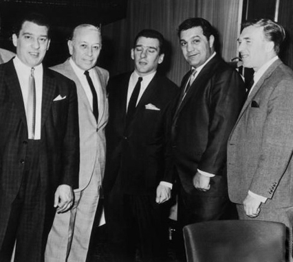 with George Raft and Rocky Marciano