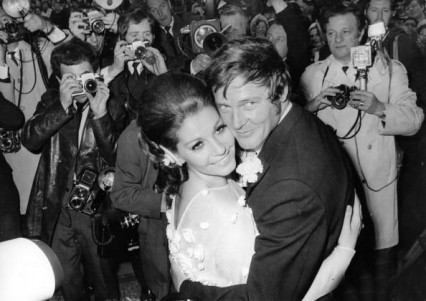 Roger Moore and Luisa Mattioli in 1969