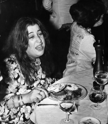 Mama Cass at Crockford's Casino in Mayfair