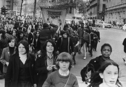 Marching to Trafalgar Square, 17th May 1972