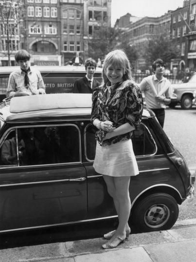 Marianne and her Mini outside the court 1st August