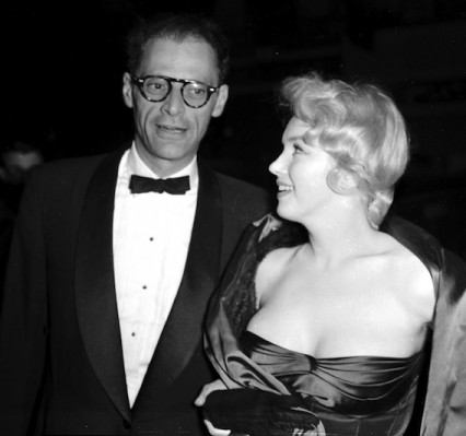 Marilyn and Miller at the opening night of View From a Bridge