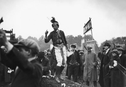 Monolulu at Epsom on Derby day 1923