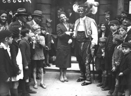 Ras Prince Monolulu after his marriage to the actress Nellie Adkins in 1931