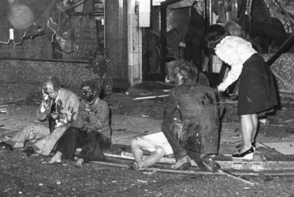 The bloody aftermath of the Mount Street bomb, 29th October 1975