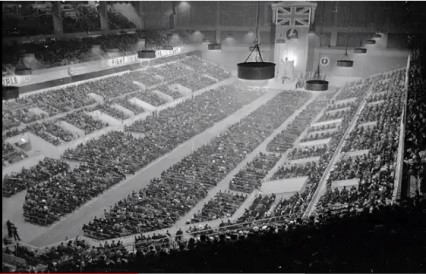 The British Union of Fascists' rally at Olympia on 7th June 1934.