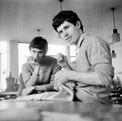 Ossie and Peter Morgan at the Royal College of Art in 1965