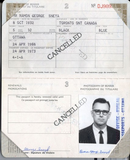 The fake passport used by James Earl Ray
