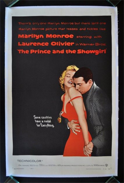 The original poster for The Prince and the Showgirl directed by Lawrence Olivier